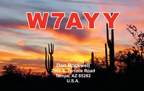 QSL cards showing Grand Canyon