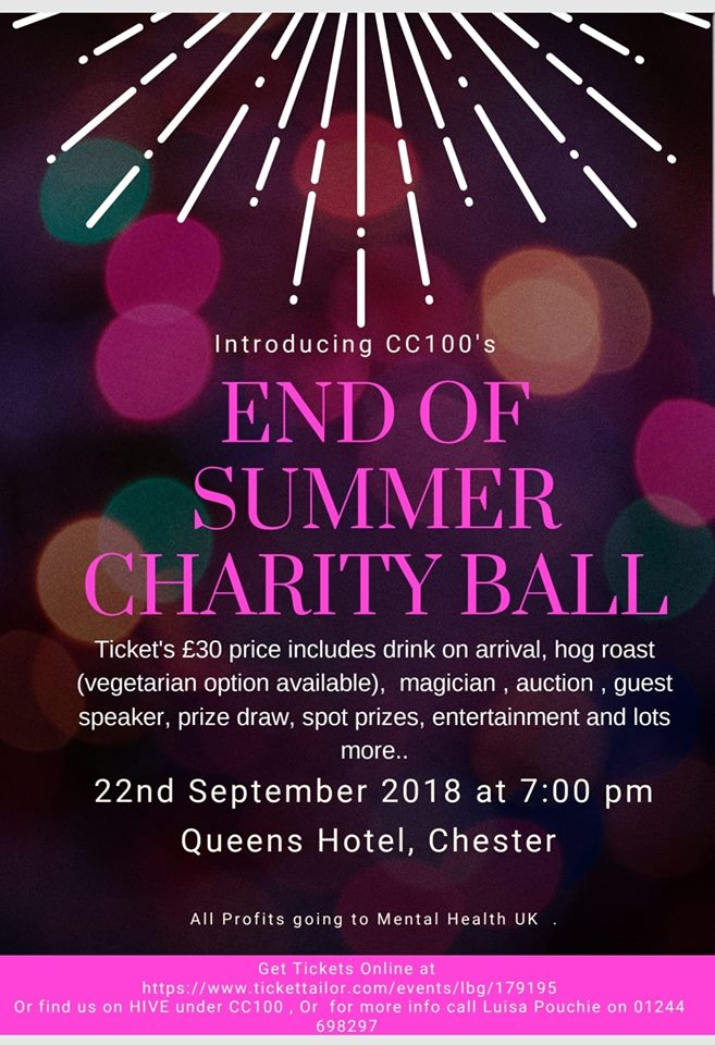 Chester Tweets | End Of Summer Charity Ball for Mental Health UK