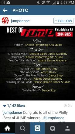CVDA Ballet won 1st Place in their Junior Division