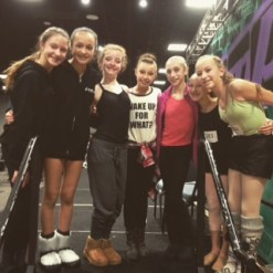 Dancers with Sophia Lucia at Jump