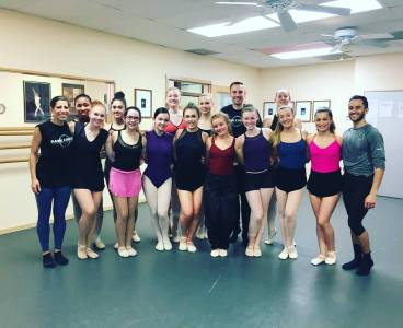 Dancers after class with Joshua Pueugh at Palm Springs Dance Festival