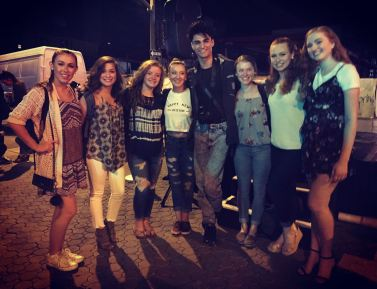 Dancers with choreographer Chad Allen Ortiz at the outdoor performance of the Palm Springs Dance Festival