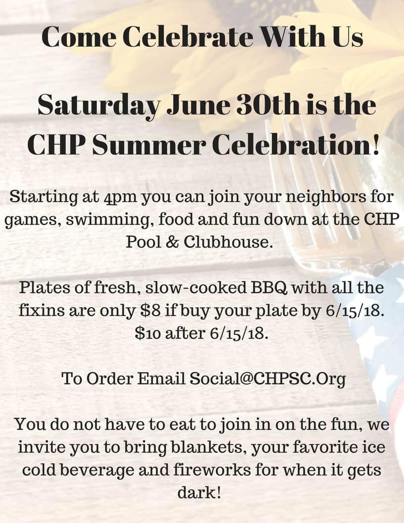 CHP Summer Celebration Flyer