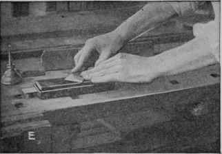 Fig. 1. - Steps in sharpening chisels, plane irons, and other chisel