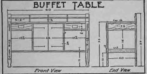 How To Make A Buffet Table 142