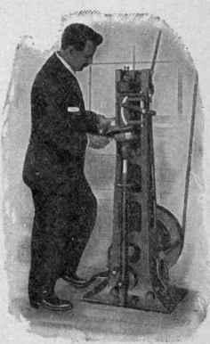 Goodyear Heel Seat Rounding Machine