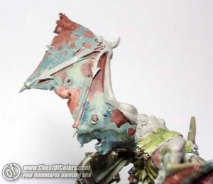 Photo: How to paint Demon Prince of Nurgle wings - Tutorial