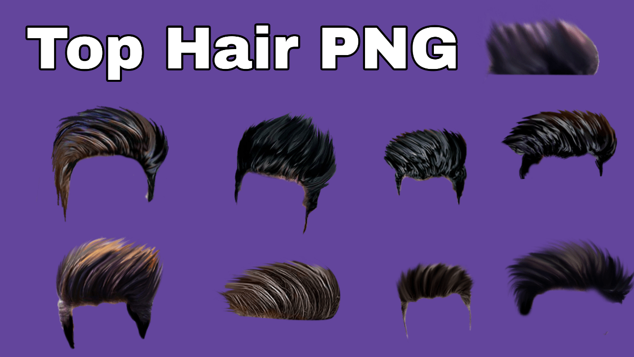 Best Hair Png For Editing Top 10 Hair Style Png For Manhd Hair Png