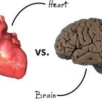 Heart vs Brain - A tough battle