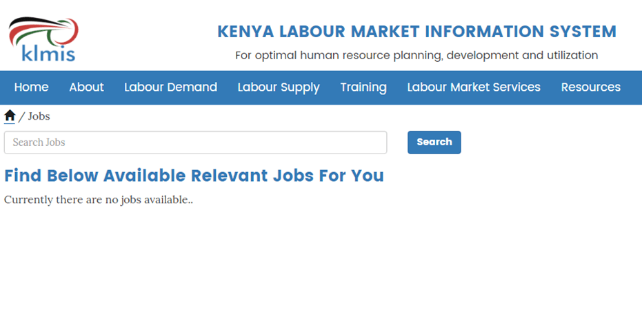 Are you a Jobless Kenyan ? The government says you should visit this portal where you could get a job