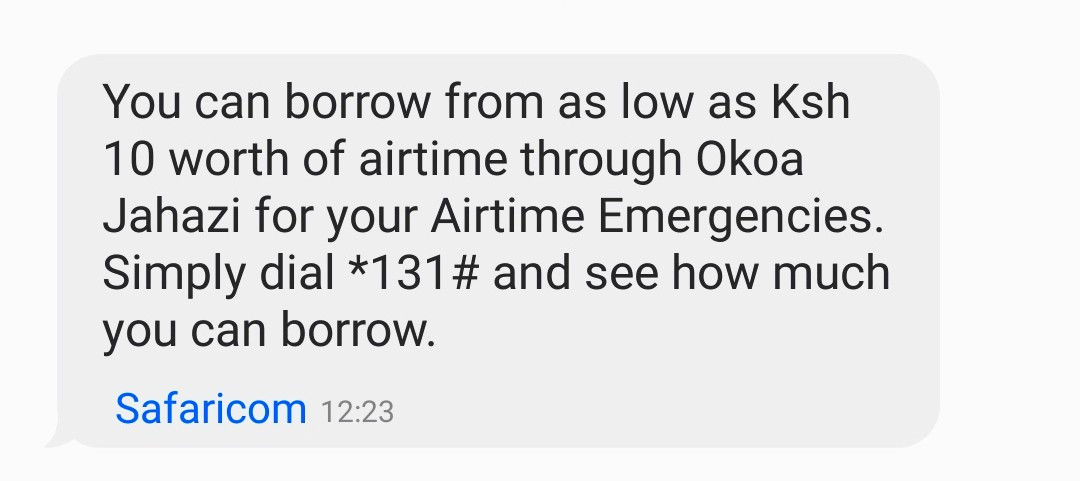 Safaricom Promo Text