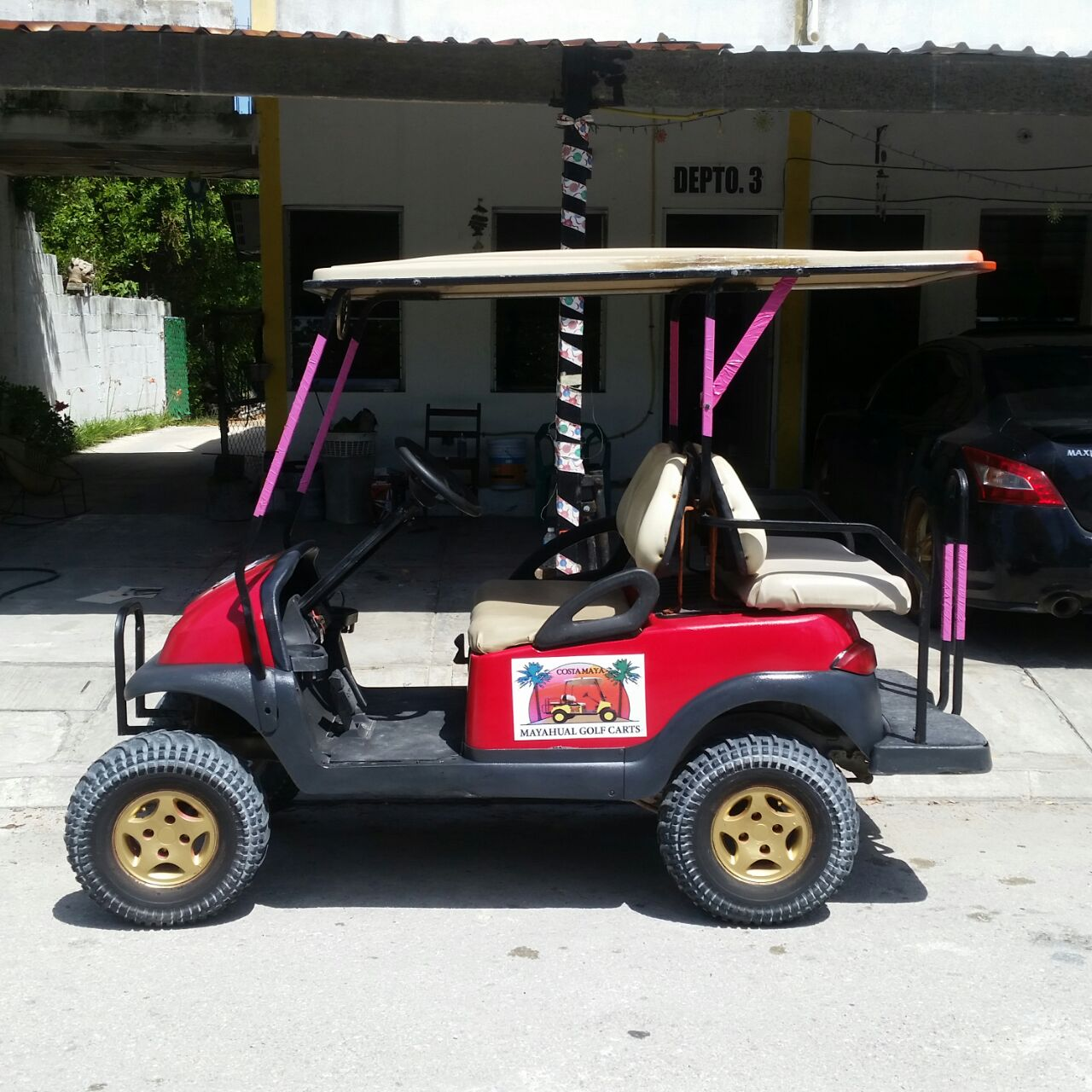 Renta carrito de golf en mahahual