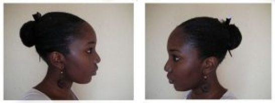 chignon cheveux crépus
