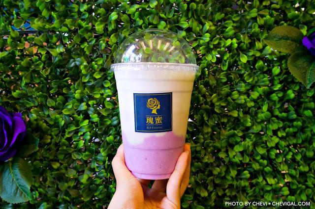 台中西區│瑰蜜*黑沃咖啡最新品牌聯名款。除了特調、歐蕾、手沖咖啡,也有果昔可以選擇唷