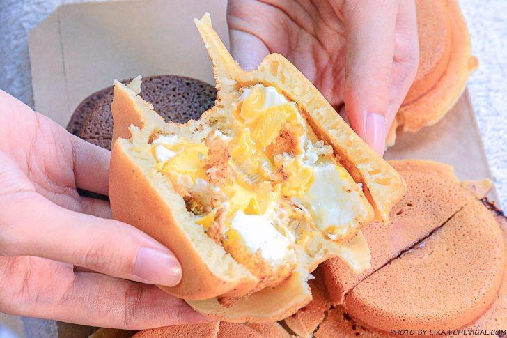 20201019200932 73 - 熱血採訪│這是車輪餅,多達40種口味鹹甜通通有!起司蛋口味就像迷你滿福堡,還有可可布朗尼奶油車輪餅螞蟻控最愛