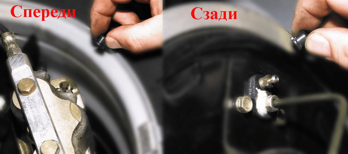 Как прокачать тормоза нива шевроле