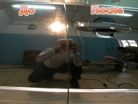 До и после полировки автомобиля