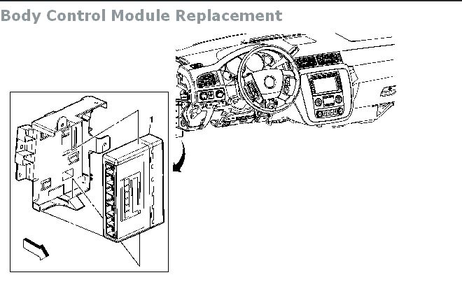 2002 Chevy Malibu Body Control Module Location