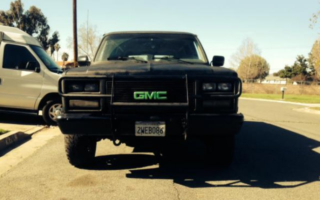 What Does Garage Mean: TRUCK YOU! A Mean 1991 GMC Suburban 4x4 In The Garage