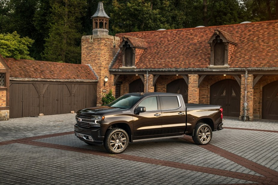 The 2019 Silverado High Country Concept rides higher on an acces