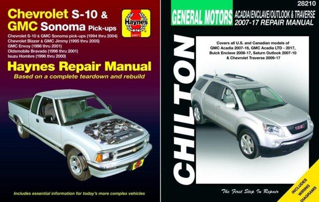 Chevy Haynes Chilton Manuals S10 Blazer Traverse