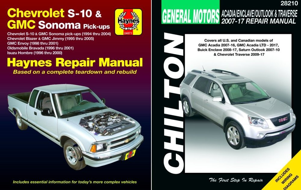 Haynes  Chilton Update Repair Manuals For The Chevy S10  Blazer
