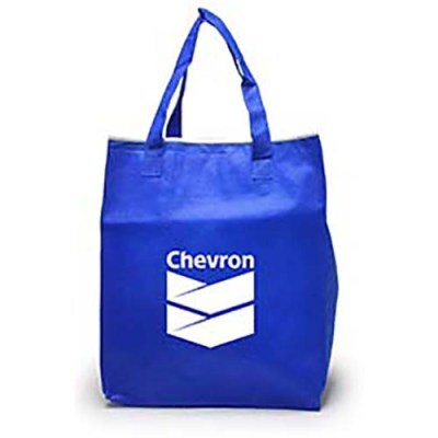 Chevron Blue Reuseable Bag