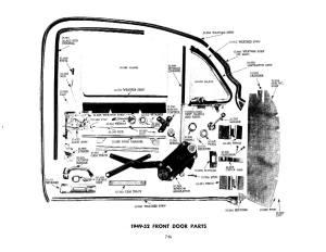 Door diagram  TriFive, 1955 Chevy 1956 chevy 1957