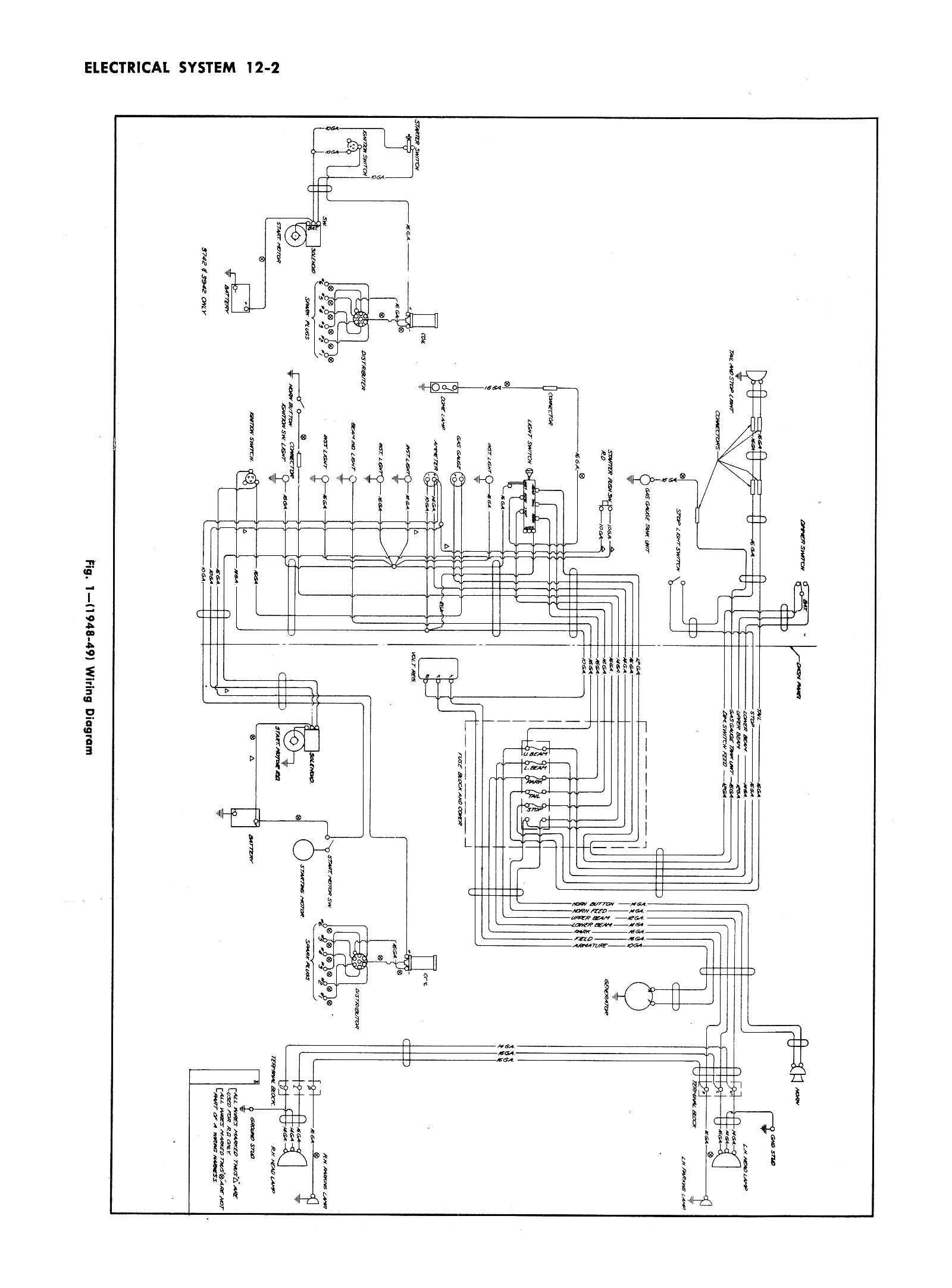Looking For A Wiring Schematic For A 48 Only Of A