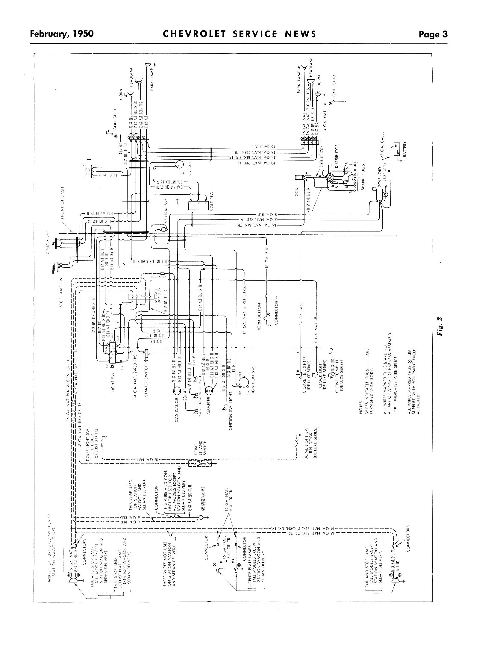 50 Chevy Wiring Diagram 50 Free Engine Image For User