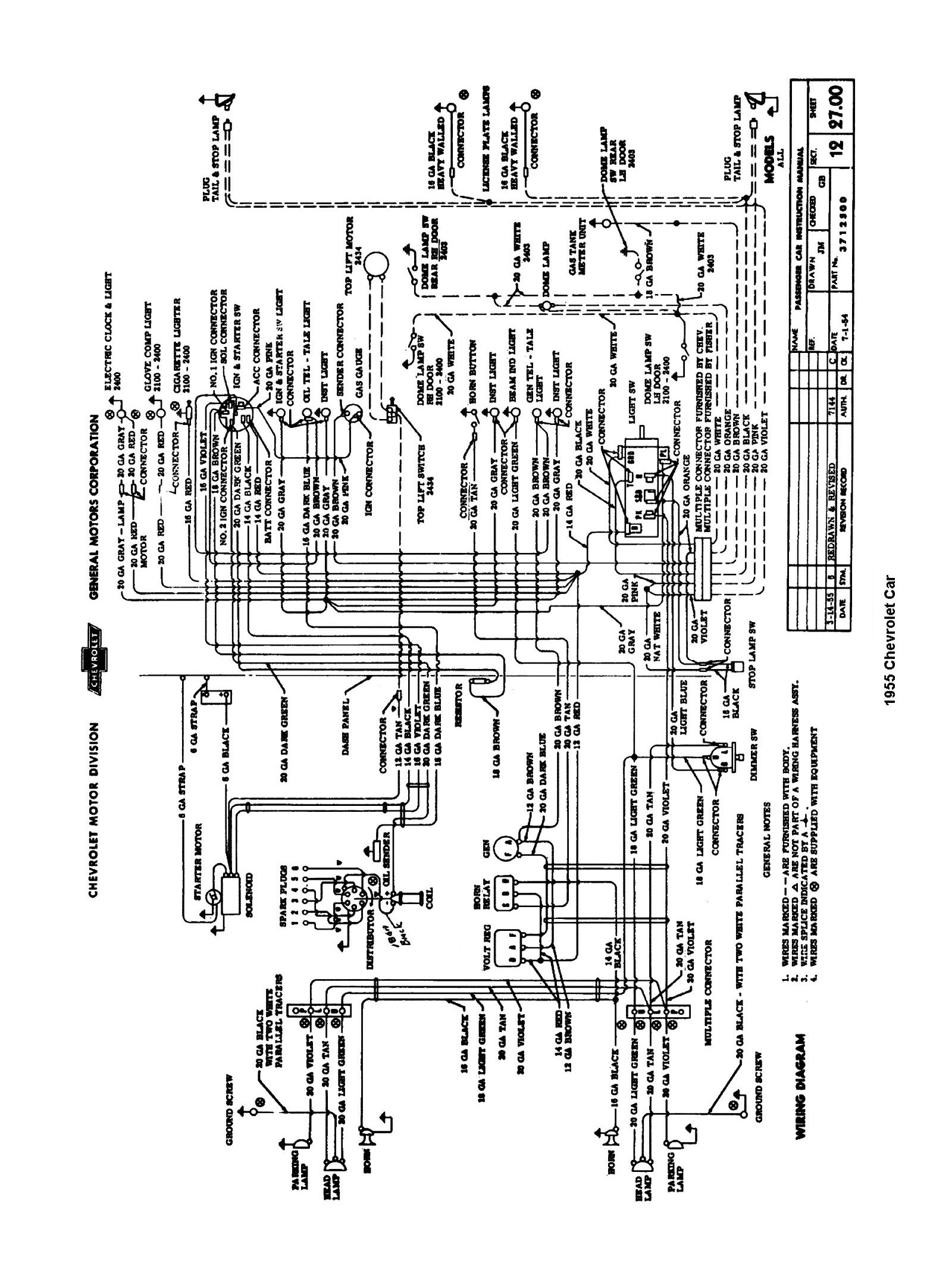 57 Chevy Wiring Schematic Chevy Wiring Diagram Images