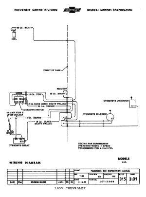 55 3 spd wOD ignition wiring  ChevyTalk  FREE