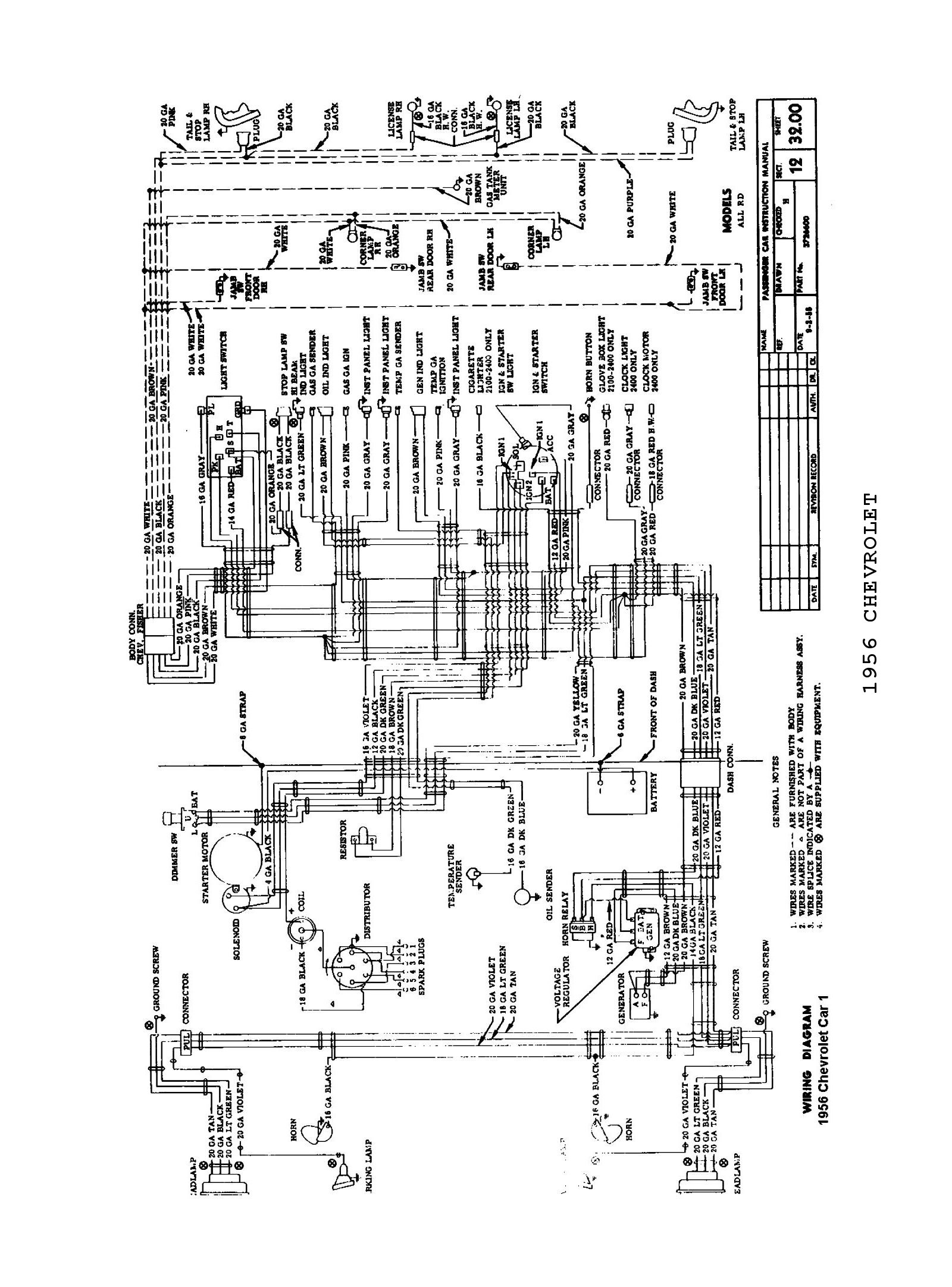 56 Chevy Belair Wiring Diagram