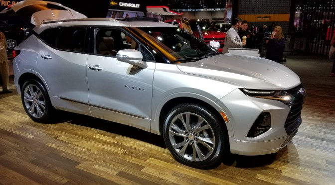 Chicago Auto Show with New Blazer and Corvette Display