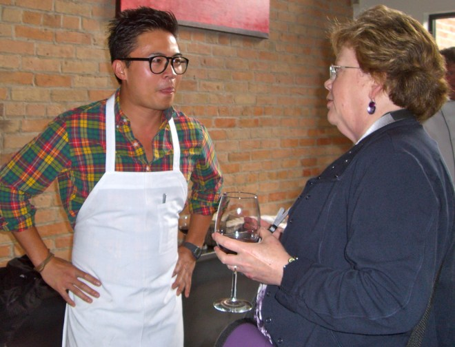 Chef Viet Pham and AFJ President Debbie Moose at Taste of Park City.