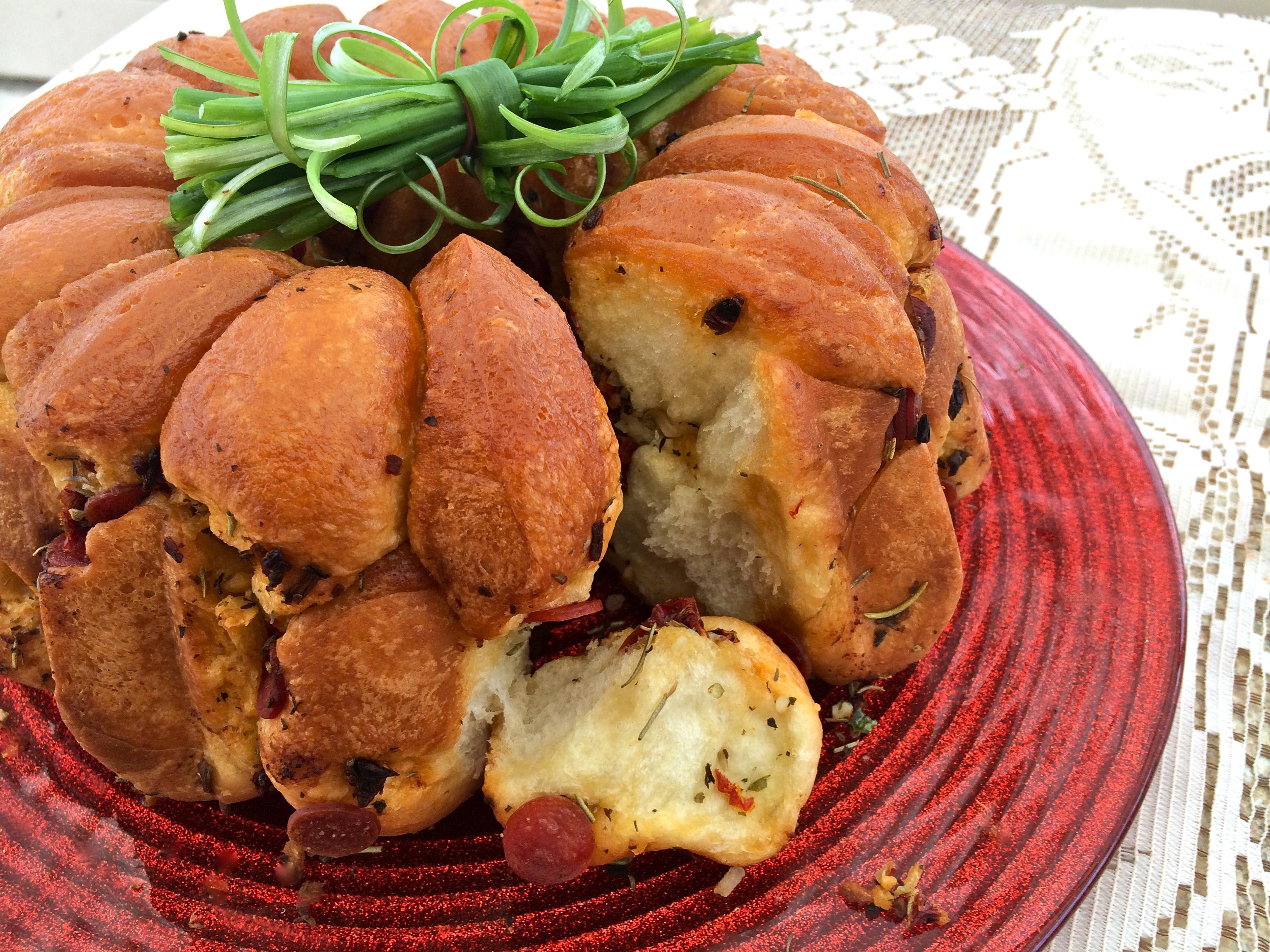 Pepperoni Bundt Bread