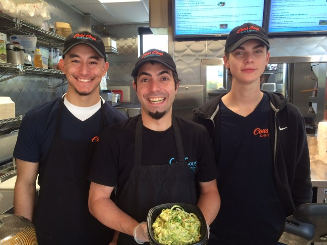 Staff at Couscous Grill Express are ready to serve customers at Station Park in Farmington.