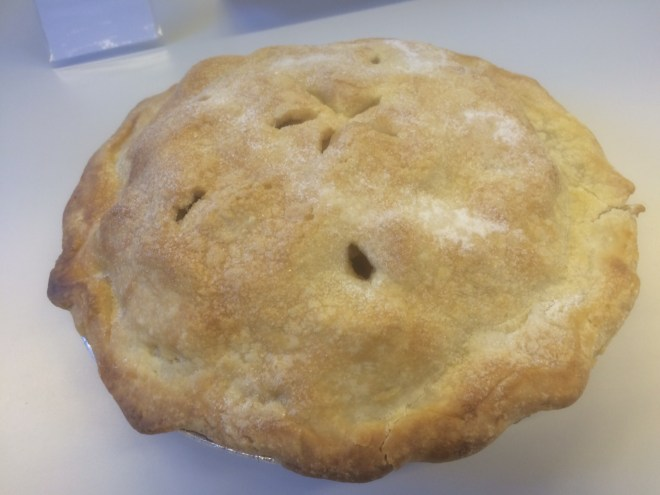 An entry in the Utah State Fair's Mountainland Apple Pie Contest.