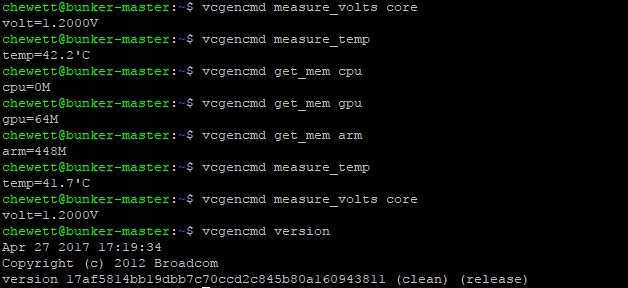 RaspberryPiVcgencmd A python library to access Raspberry Pi vcgencmd command