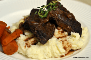 Braised Beef Short Ribs - Chew Nibble Nosh