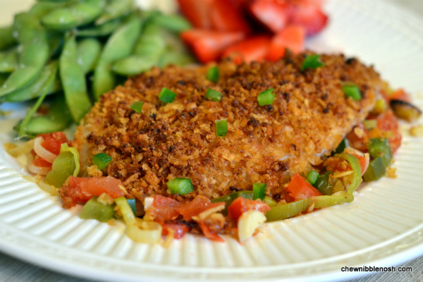 Crispy Tilapia with Leeks and Tomatoes - Chew Nibble Nosh