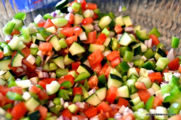 Summer Wheatberry Salad 2 - Chew Nibble Nosh