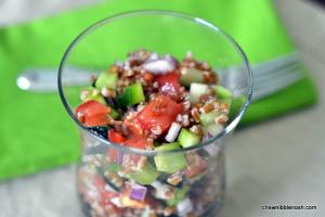 Summer Wheatberry Salad - Chew Nibble Nosh