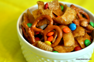 Sweet and Salty Snack Mix - Chew Nibble Nosh