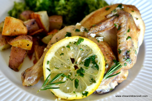Lemon Herb Cornish Hens - Chew Nibble Nosh