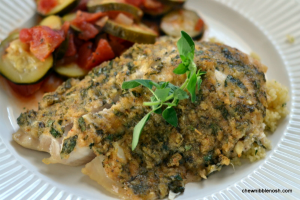 Herb Crusted Tilapia - Chew Nibble Nosh