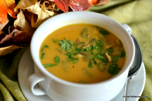 Thai-Style Pumpkin Soup - Chew Nibble Nosh