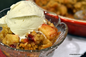Cranberry Orange Apple Crisp - Chew Nibble Nosh