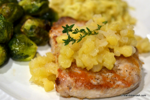 Pork Chops and Apple Compote - Chew Nibble Nosh