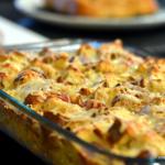 Kielbasa & Pretzel Overnight Breakfast Bake